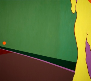"In Road, 2012, oil on canvas, 72"" x 80"""