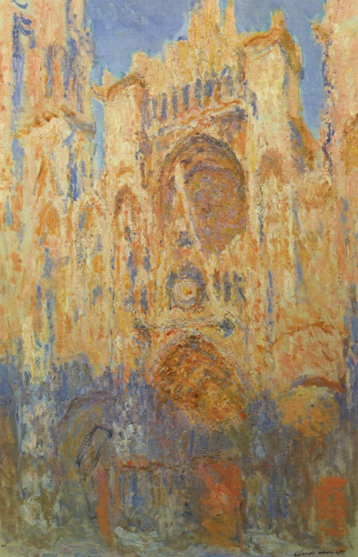 Claude Monet, Rouen Cathedral, West Façade, Sunlight, 1894, oil on canvas, 50 1/4 x 36 in.