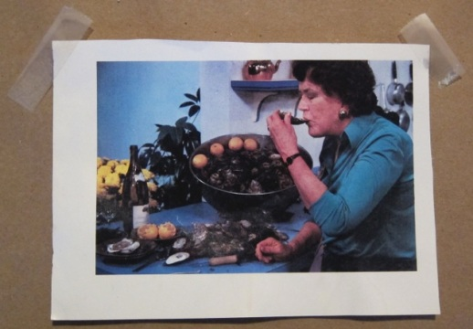 Buddy work: picture clipped from 1979 cookbook Julia Child and Company