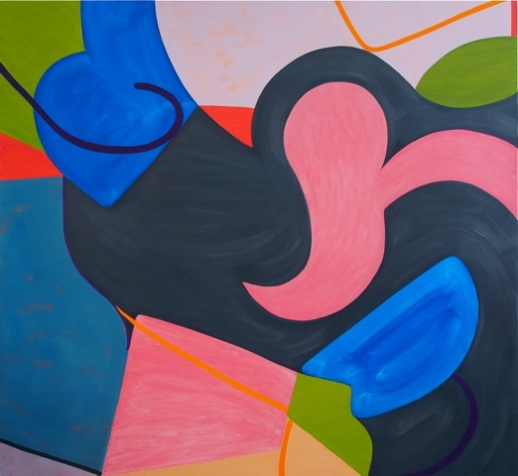 "Say Hello to the New Pink, Oil on linen, 50"" x 50"", 2013"